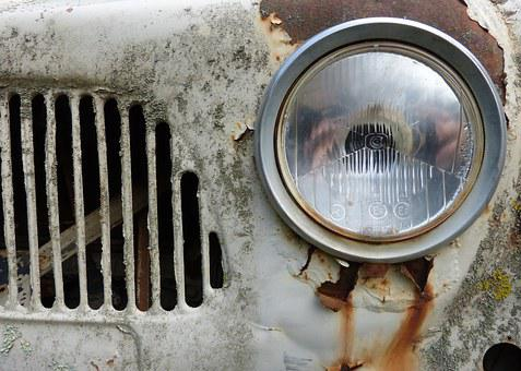 Frontal, Morro, Lighthouse, Old, Rusty, Car, Renault F4