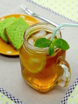 Ice Lemon Tea, Tea, Drink, Glass, Lemon, Cold, Mint