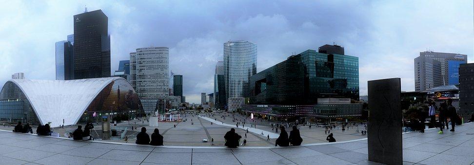 France, Paris, La Défense, Glass, Skyscraper