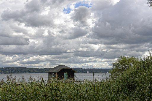 Lake, Clouds, Sky, Starnberger See, Covered Sky