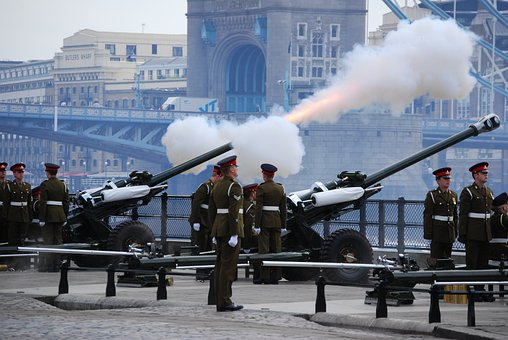 Cannons, Army, Royal, Salute, London, Tower, Uniform