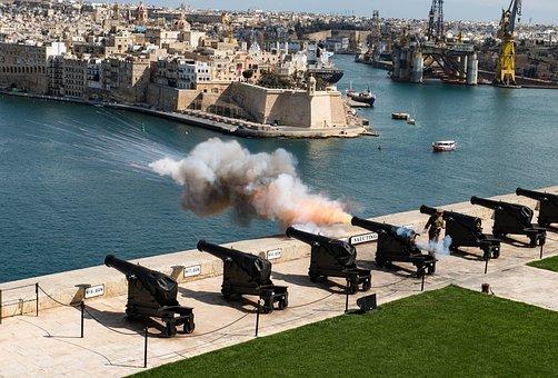 Malta, Valetta, Salute, City, La Valetta, Ship
