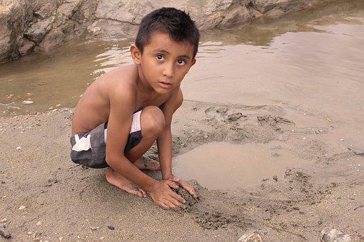 Child, River, Childhood, Water, Memory, Chatino