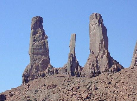 Moument Valley, Towers, Rocky Towers, Climb, Steep