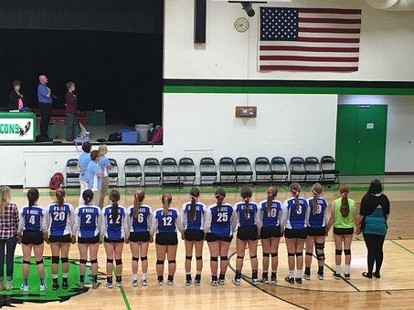 Patriotism, Patriotic, National Anthem, Volleyball