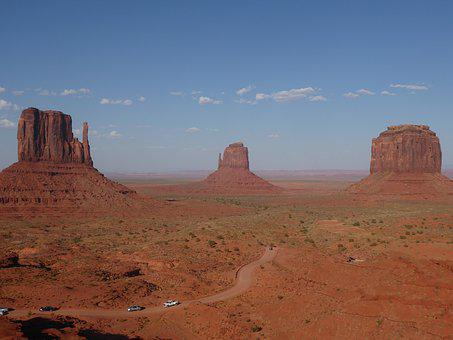 Monument Valley, Mittens, Navajo, Tribal Park, Track