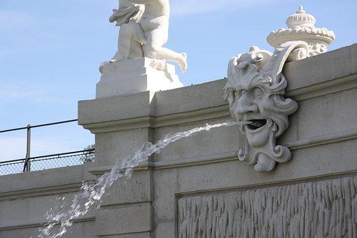 Vienna, Austria, Schönbrunn, Gargoyle, Neptunbrunnen