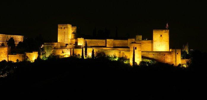Alhambra, Granada, Andalusia, Spain, Palace, Moorish