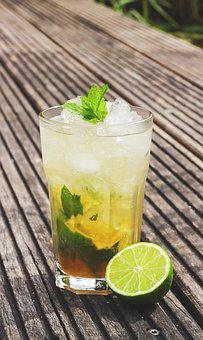 Mojito, Cocktail, Lime, Mint, Ice, Peppermint