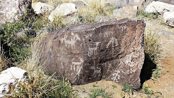 Petroglyph, Rock, Native American, Indian, Native