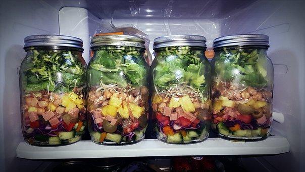 Salad Jar, Salad, Mason Jar, Food, Healthy, Jar, Fresh