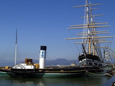 San Francisco, California, Usa, Sailing Ship