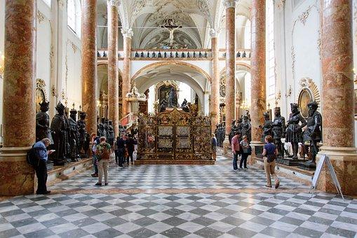 Church, Schwarzmander, Hofkirche, Innsbruck, Tyrol
