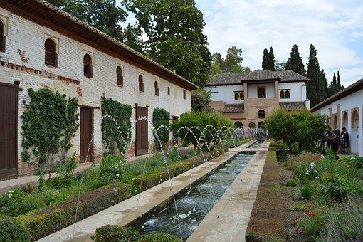 Alhambra, Andalusia, Landscape, Castle, Granada, Spain
