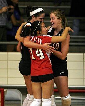 Volleyball, Team, Celebration, Excitement, Game, Sport