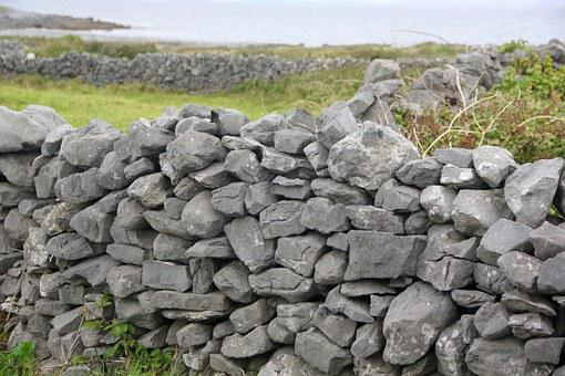 Stone, Fence, Irish, Wall, Natural, Texture, Pattern