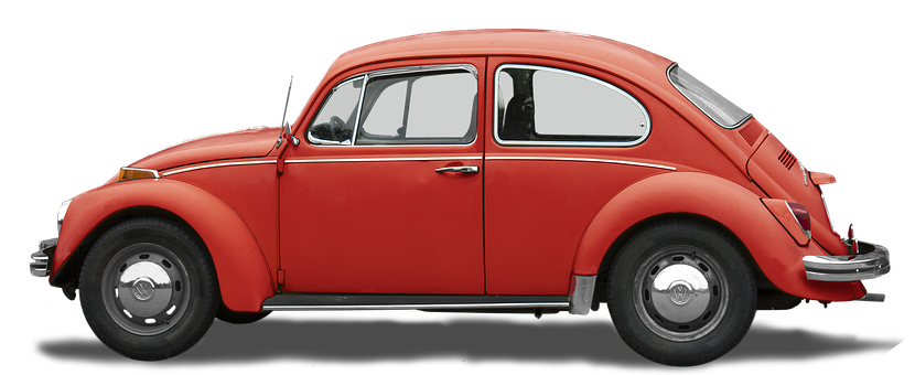 Isolated, Vw, 1200, Volkswagen, 4-cyl Boxer, Beetle