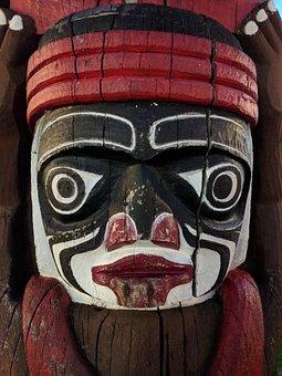 Tribal Mask, Native America, Tribe, America, Symbol