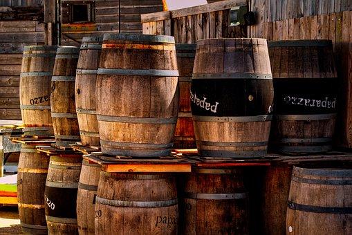 Barrel, Wooden Barrel, Wood, Alcohol, Ancient, Antique