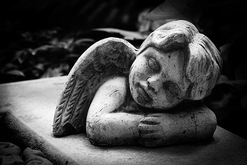 Tombstone, Grave, Angel, Cemetery, Mourning, Sculpture