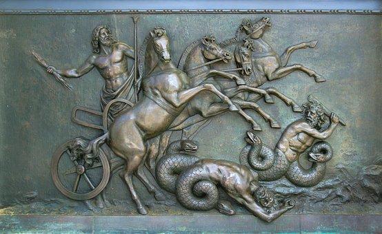 Achillion, Door, Bronze, Metal, Old, Antique