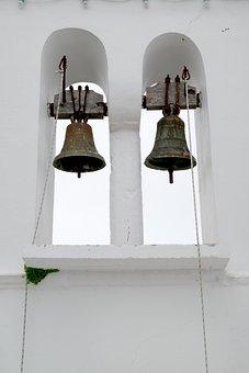 Church, Bells, Cross, Architecture, Sky, Nature, Simple