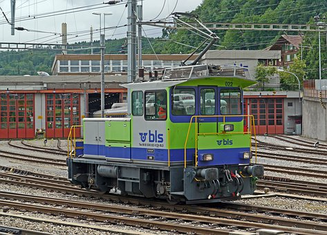 Small Shunting Engine, Bls, Depot, Spiez