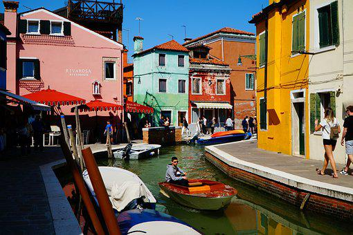 Burano, Canal, Colors, Colorful, Colourful, Water