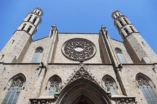 Barcelona, Church, Spain, Architecture, Catalonia