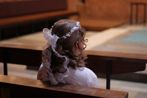 Church, Communion, Confirmation, Child, Sacrament