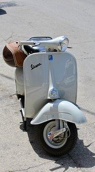 Vespa, Restored, Motor Scooter, Piaggio, Cult