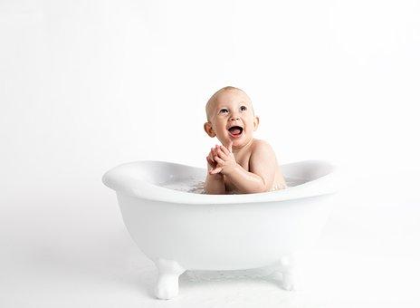 Child, Baby, Minimalist, White Background, Cute