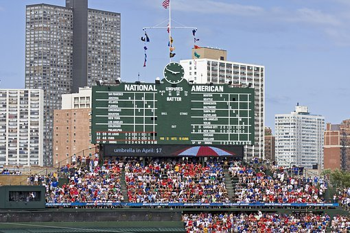 Chicago, Wrigley Field, Cubs, Field, Baseball, Wrigley