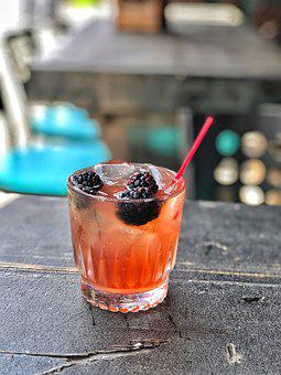 Gin, Blackberry, Cocktail, Summer, Fruit, Refreshment