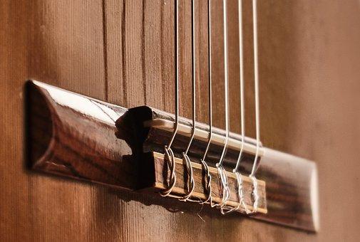 Guitar, Perspective, Tiefenschärfe, Strings, Close Up