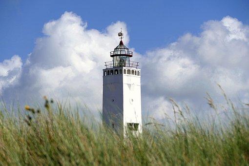 Lighthouse, Dunes, Beach, Noordwijk, Sand, Sea, Nature