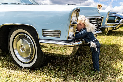 Car, Blonde, Doll, Mechanic, Woman, Photoshoot