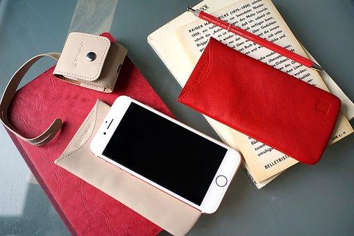 Book, Mobile Phone, Smartphone, Leather, Desktop, Desk