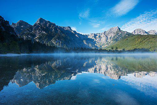 Mountains, Landscape, Mirroring, Reflection In Water