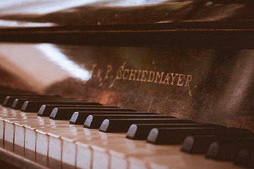 Piano, Vintage, Music, Instrument, Keys