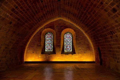 Abbey, Church, Building, Stone, Old, Interior, Darkness