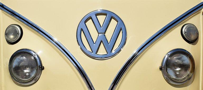 Volkswagen, Headlights, Car, Vehicle, Camper, Retro
