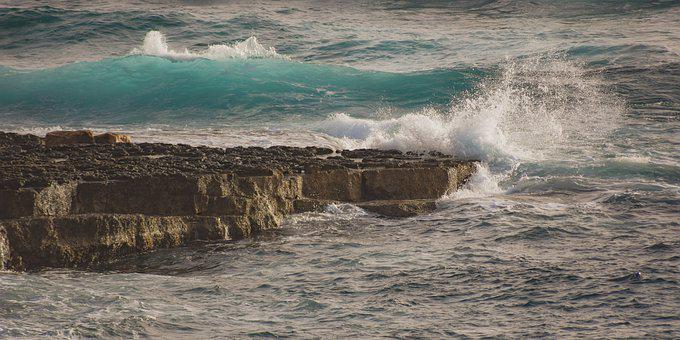 Waves, Crashing, Coast, Rock, Rocky, Nature, Storm