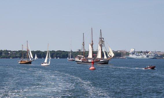 Kieler Firth, Baltic Sea, Mecklenburg, Water, Shipping