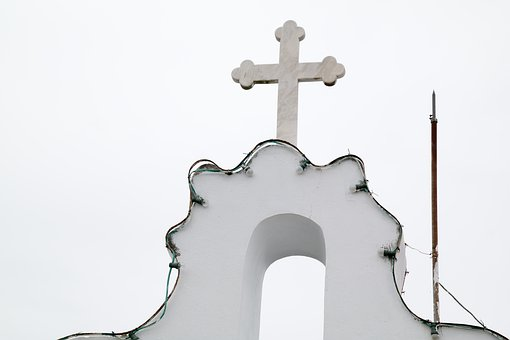Church, Top, Cross, Architecture, Sky, Nature, Simple