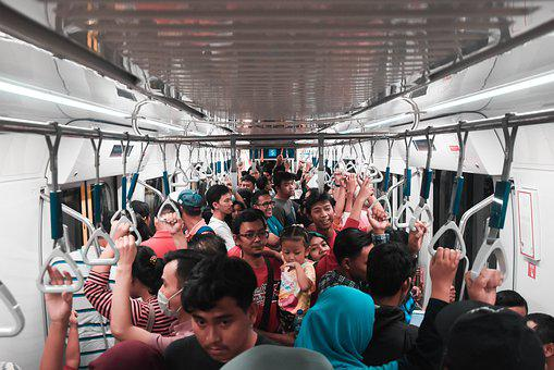 People, Train, Indonesia, Jakarta, Railway, Station