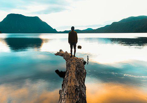 Mountain, Sumatra, Indonesia, Candid, Silhouette, Lake