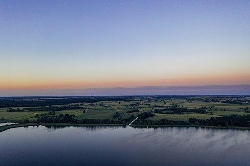 Lake, Sunset, Sunrise, Dusk, Dawn, Pond, Water, Trees