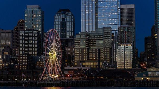 Cityscape, City, Night, Dark, Architecture, Urban