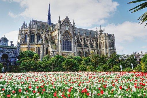 Arundal, Cathedral, Tulip Festval, Garden, Plants